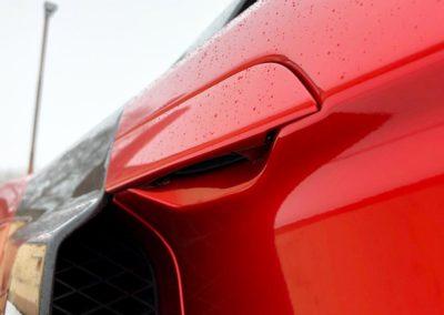 Folierung Audi R8 in Ruby Red von PWF im Saarland bei Geierdesign in Losheim am See