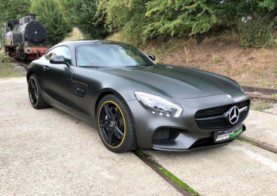 Komplettfolierung Mercedes SLS AMG in Schwarz Matt
