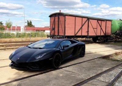 Steinschlagschutz Folierung an einem Lamborghini